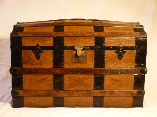 Late 19th Century dome topped chest